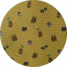 Necktie - Silk - Mei's Drawing Nekobus Kurosuke - mustered yellow - Made Japan - Totoro 2017 (new)