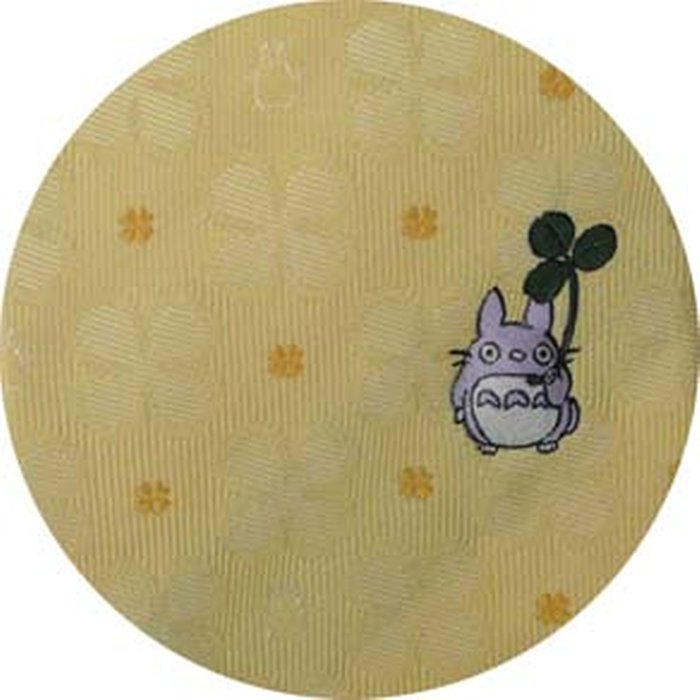 Necktie - Silk - Embroidery - Silhouette Clover - yellow - Made in Japan - Totoro Ghibli 2017 (new)