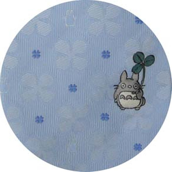 Necktie - Silk - Embroidery - Silhouette Clover - sax blue - Made Japan - Totoro - Ghibli 2017 (new)