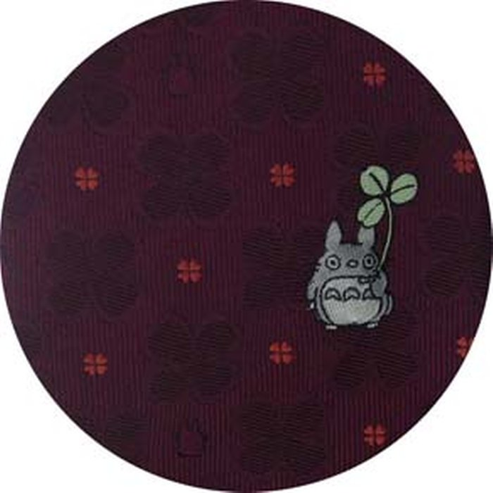Necktie - Silk - Embroidery - Silhouette Clover - wine - Made in Japan - Totoro - Ghibli 2017 (new)