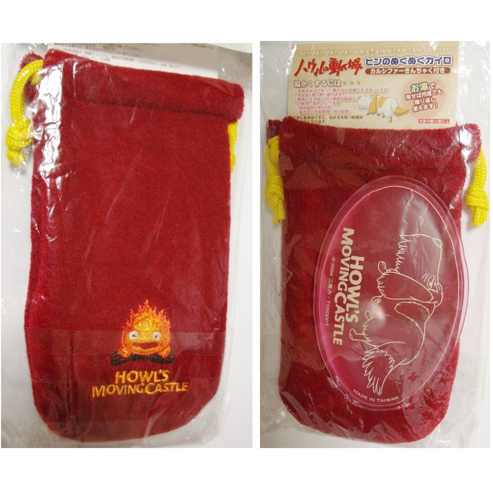 Hot Pack Hand Warmer / Kairo 52°C - Pouch - Heen Calcifer Howl's Moving Castle no production (new)