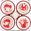 4 Rubber Stamp in Case - Pre-inked / Self-inking - Red - Kiki's Delivery Service Ghibli 2017 (new)