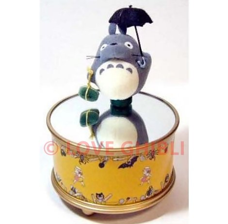 1 left - Music Box - Spinning Mascot Magnet - Totoro & Umbrella - Ghibli - no production (new)