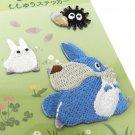 3 Sticker - Embroidery - Sho Totoro & Chu Totoro & Kurosuke - Ghibli - Ensky - 2017 (new)