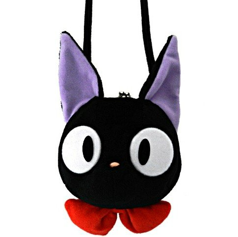 Purse Gamaguchi with Strap Holder - Plush - Jiji - Kiki's Delivery Service - Sun Arrow - Ghibli 2017 (new)