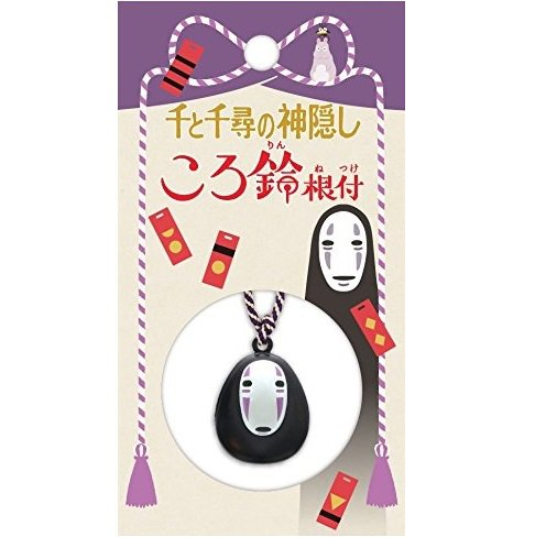 Strap Holder Holder - Netsuke - Bell - Kaonashi / No Face - Spirited Away - Ghibli - Ensky - 2017 (new)