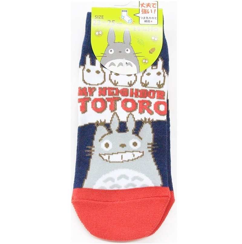 Socks - 23-25cm - Short - Strong Toes Heels - Navy - Totoro - Ghibli 2015 no production