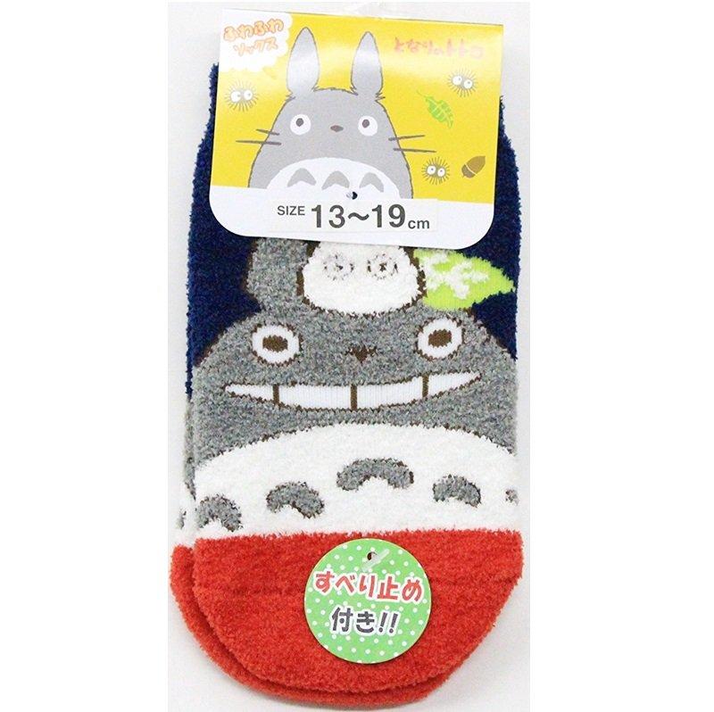 Socks - 13-19cm - Short - Fluffy - Non Slip - Navy Red - Totoro - Ghibli - 2016 no production (new)