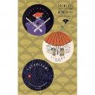 3 Sticker - Eboshi Gozen & Jikobo & Tatarigami - Mononoke - Ghibli - 2017 (new)
