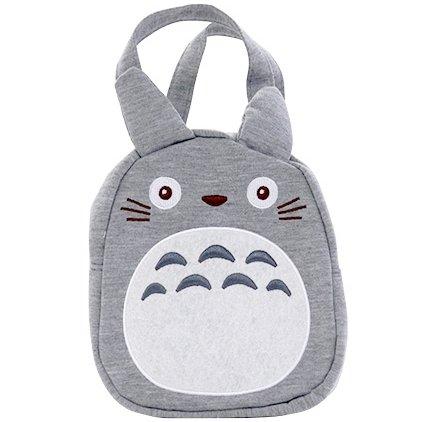 Tote Bag - 15x15cm - Polyester Fleece - Zipper - Totoro - Ghibli - 2017 (new)