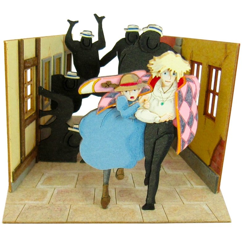 Miniatuart Kit - Mini Paper Craft Kit - Sophie & Howl - Howl's Moving Castle - Ghibli 2017(new)