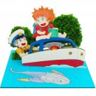 Miniatuart Kit - Mini Paper Craft Kit - Ponyo & Sousuke & Ponponsen - Ghibli - 2016 (new)