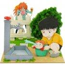 Miniatuart Kit - Mini Paper Craft Kit - Ponyo & Sousuke & Fujimoto - Ghibli - 2016 (new)
