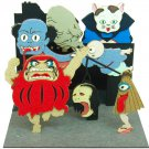 Miniatuart Kit - Mini Paper Craft Kit - Youkai / Monsters - Pom Poko - Ghibli - 2016 (new)