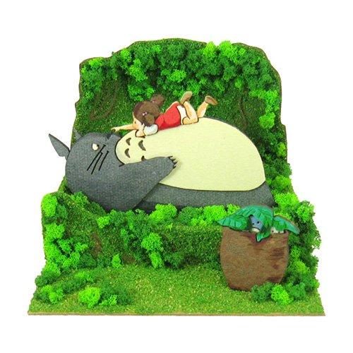 Miniatuart Kit - Mini Paper Craft Kit - Mei & Sho & Chu & Totoro - Ghibli - 2017 (new)