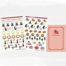 Sticker Set - 2 Sheets & Paper File - Made in Japan - Kiki's Delivery Service - 2017 (new)