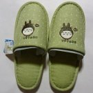 2 left - Slippers - 22-25cm -  Embroidery - Totoro - Green - Ghibli - no production (new)