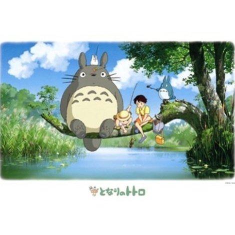 1000 pieces Jigsaw Puzzle - fishing - Totoro & Chu & Sho Totoro & Mei & Satsuki - Ghibli (new)