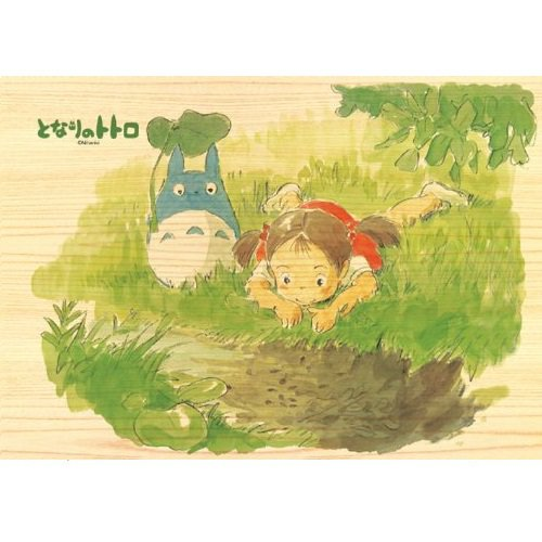 208 pieces - Natural Wood Jigsaw Puzzle - Natural Wood Case - Chu Totoro & Mei - Ghibli (new)