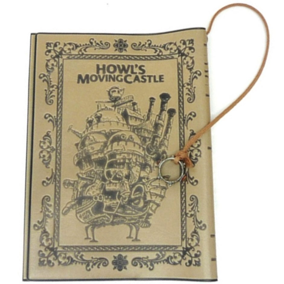 1 left - Book Cover - Leather - Ring Ornament - Howl's Moving Castle - Ghibli no production