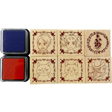 6 Rubber Stamps & 2 Color Pads - Mary and the Witch's Flower Mary to Majo no Hana Ghibli 2017 (new)