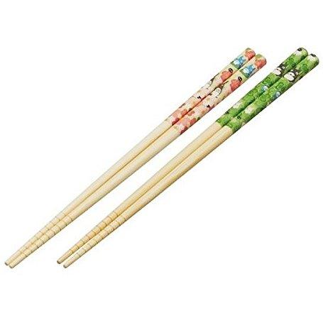 2 Chopsticks Set - 21cm - Bamboo - Stopper - Totoro - Ghibli - 2017 (new)