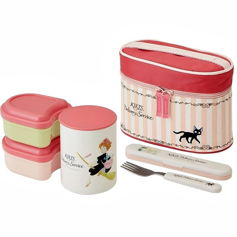 stainless steel lunch bento box 560ml jar containers fork case kiki 39 s delivery service 2017 new. Black Bedroom Furniture Sets. Home Design Ideas
