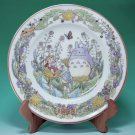 1 left - Yearly Plate 1998 - Wooden Stand - Noritake - made in Japan - Totoro - no production (new)