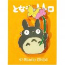 4 left - Pin Badge - Totoro holding Flower with Butterfly - Ghibli - no production (new)