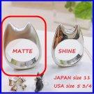 RARE 1 left- Ring size 11 Sterling Silver SV925 MATTE Handmade JAPAN Totoro Ghibli Museum gift wrap