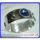 RARE - Ring #19 - Silver SV925 Swarovski Blue Handmade in JAPAN - Howl's Moving Castle Ghibli Museum