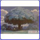 1 left - Postcard - Tree - Totoro - Made in Japan - Oga Kazuo Art Collection - Ghibli Museum