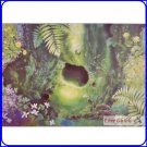 1 left - Postcard - Tree House - Totoro - Made in Japan - Oga Kazuo Art Collection - Ghibli Museum