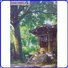 RARE 1 left- Postcard - Shrine - Spirited Away - Made JAPAN - Oga Kazuo Art Collection Ghibli Museum