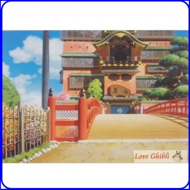 Rare 1 Lef Postcard Yuya Bath House Spirited Away Japan Oga Kazuo Art Collection Ghibli Museum