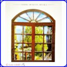1 left - Greeting Card - Painted Window - Made in Japan - Laputa - Ghibli Museum - no production