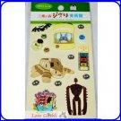 RARE 1 left - 15 Craft Puffy 3D Sticker - Totoro Nekobus Catbus Laputa Robot Ghibli Museum Ticket