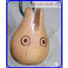 RARE 1 left - Strap Holder - Bell Natural Wood Mokurin Green - Made Japan Sho Totoro Ghibli Museum