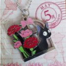 RARE - Strap Holder - Carnations May 12 Months Charm Jiji Kiki's Delivery Service 2014 no production
