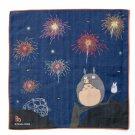 Handkerchief - 29x29cm - Double Gauze - Made in JAPAN - fireworks - Totoro - Ghibli 2019