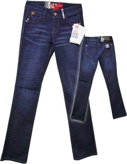 Ecko Red Dark Blue Reconstructed Jeans