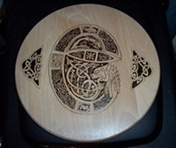 Celtic Pyrographed Beech Wood Platter