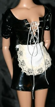 """PVC French Maid Costume for 16"""" Robert Tonner Doll"""