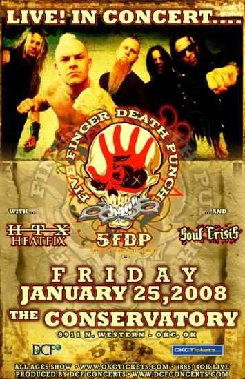FIVE FINGER DEATH PUNCH concert poster HEATFIX 5FDP