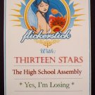 FLICKERSTICK thirteen stars Promotional CONCERT poster collectible