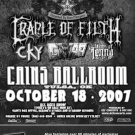 CRADLE OF FILTH rare GWAR CONCERT POSTER promotional collectible