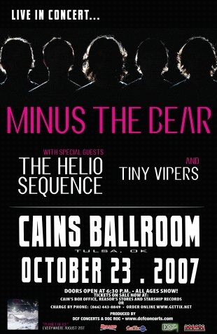 MINUS THE BEAR tiny vipers CONCERT POSTER helio rare