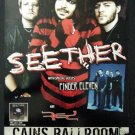 SEETHER rare promotional CONCERT POSTER finger eleven collectible