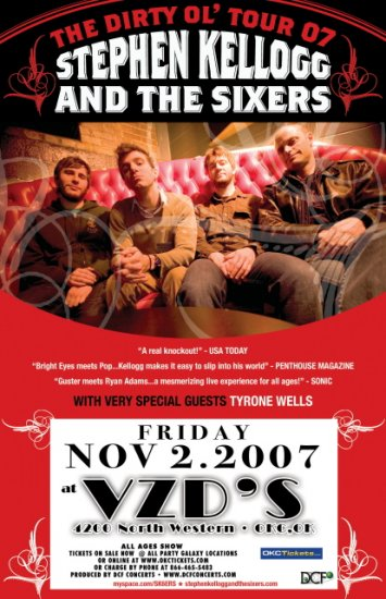 STEPHEN KELLOGG & the SIXERS concert poster collectible