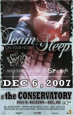 TEAM SLEEP rare promotional CONCERT POSTER collectible